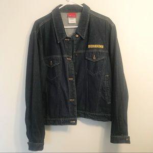 REEBOK Redskins Denim Jacket. Size XL